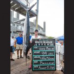 As expected, the 94-pound white marlin hooked by Cheryl McLeskey held on first place and had a $1.1 million payday. Photo by Hooked On OC
