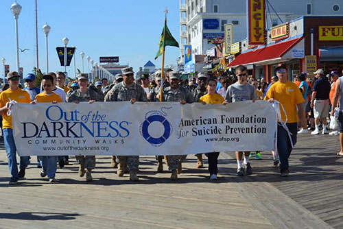 The beginning of last year's Out of the Darkness walk is pictured. The fourth annual event is scheduled for Saturday, Sept. 26. File Photo