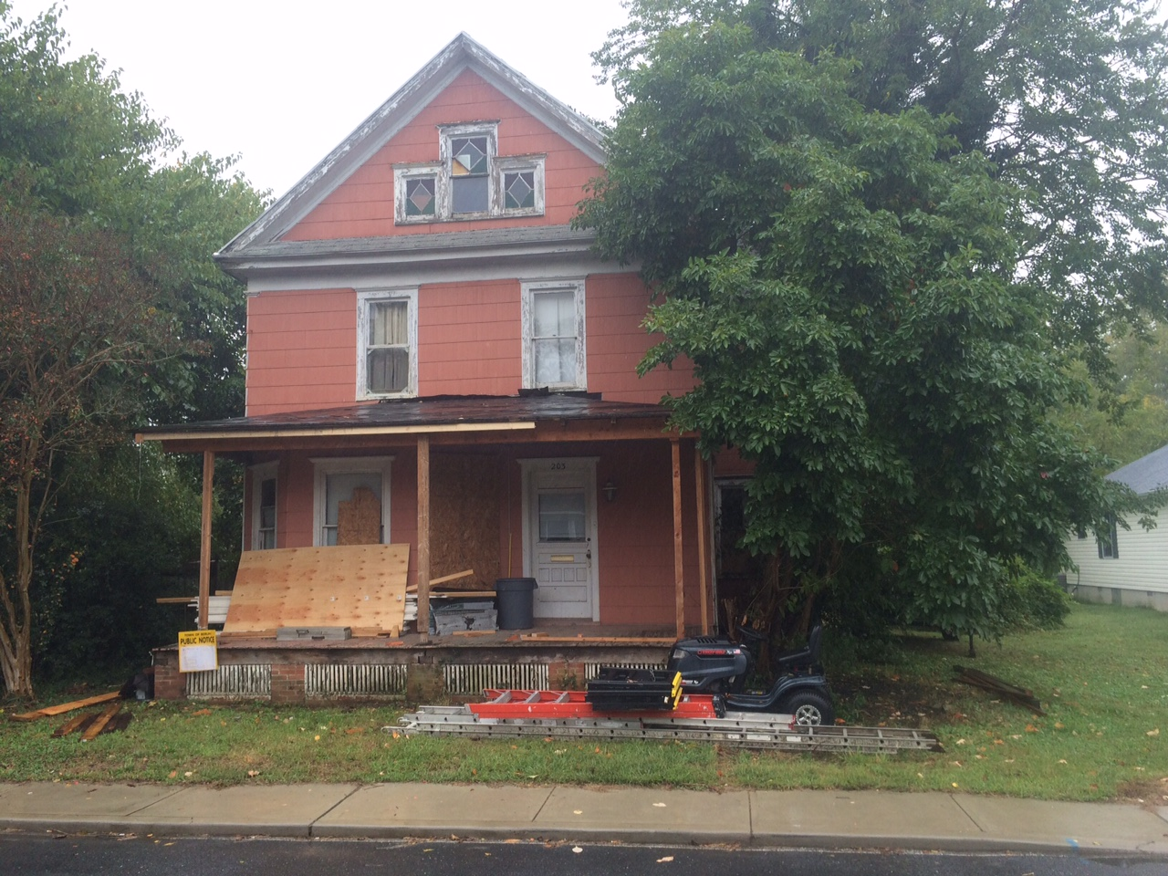 The house at 203 Washington St. has been an eyesore and nuisance for residents for the last 10 years.