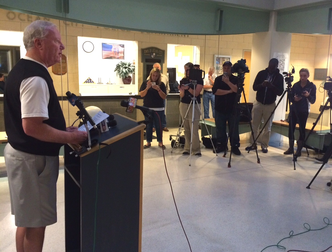 """Don't get lulled to sleep after a few high tides, because we will feel the effects of numerous high tides. We will not lose our focus,"" Mayor Rick Meehan said."