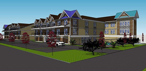 An early rendering of the proposed Sands Motel redevelopment is shown. Photo courtesy of www.sandsfenwick.com