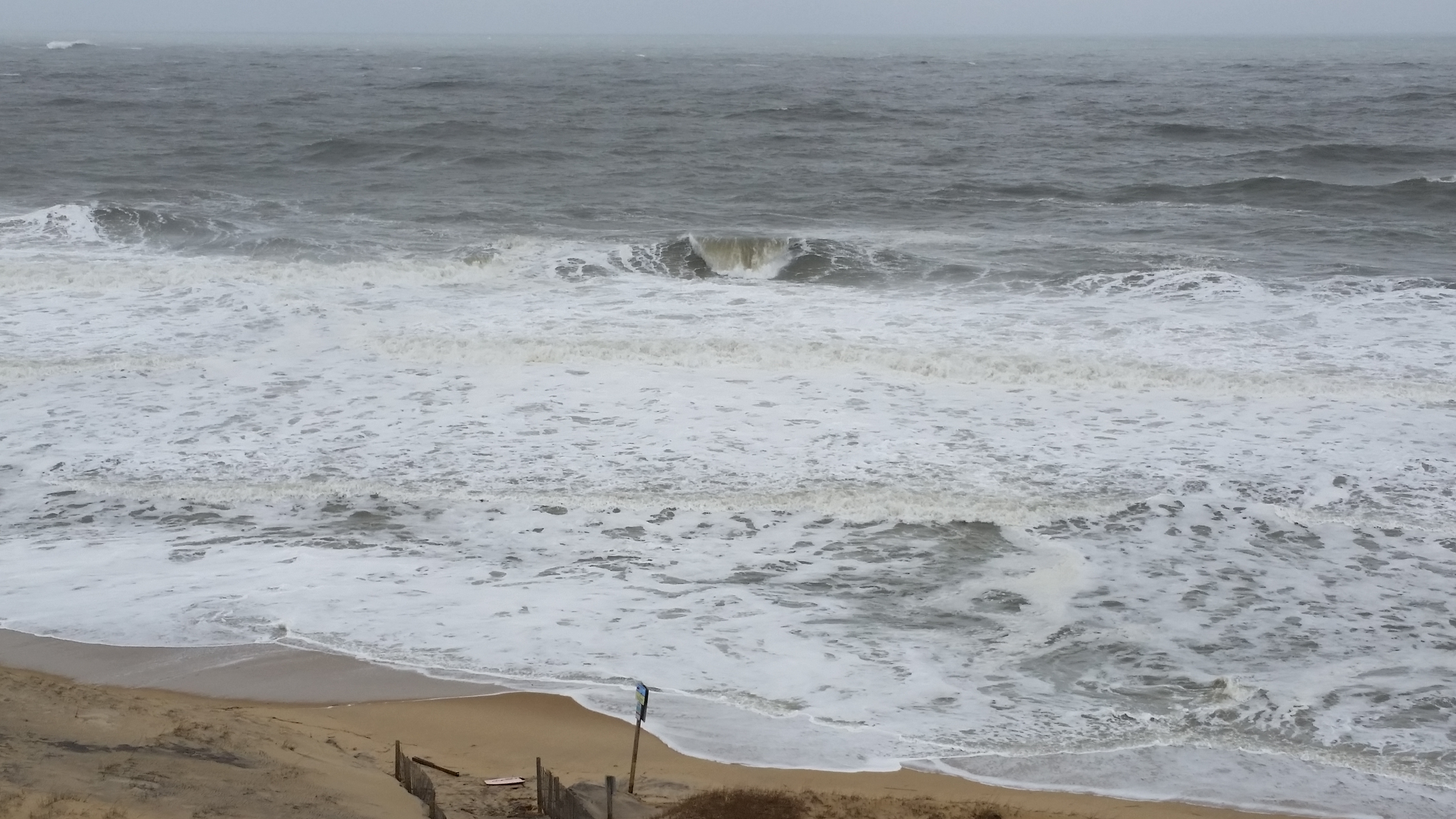The beach and ocean at 67th Street is pictured Monday morning. Photo by Willie Frank