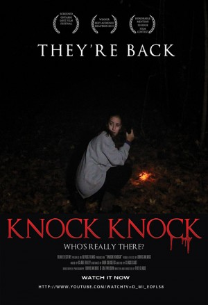 The poster for the students' 50-Hour film, Knock Knock, is pictured. Submitted Photos