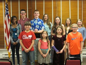 Worcester County 4-H 2016 Public Speaking Participants