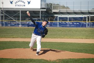Decatur's Tristan McDonough was dominating on the mound this week, throwing a no-hitter against Snow Hill on Monday.