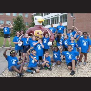Camp Safe Harbor 1 - campers w Sammy Seagull - Copy