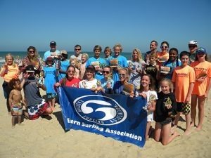 Good conditions prevailed last week for the Chauncey's Surfabout, the ESA of Delmarva's second contest in a summer long series. The next contest is the Malibu's Classic set for July 16. Pictured above, the winners in several categories show off their trophies.  Submitted photo