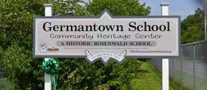 The Germantown School's new sign was created and installed through funding provided by the Lower Eastern Shore Heritage Council. Photos by Charlene Sharpe