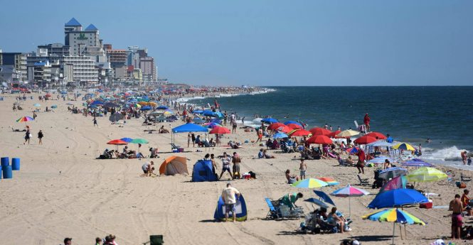 The beach is pictured in downtown Ocean City on Tuesday. Photo by Allen Slar