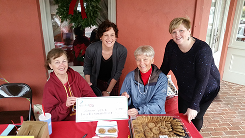 "Worcester County G.O.L.D. volunteers Bonnie Machen and Sandy Reifsnyder receive an ""Early Bird"" incentive check of $250 from Community Foundation of the Eastern Shore President Erica Joseph and Program Director Heather Mahler. Submitted Photo"