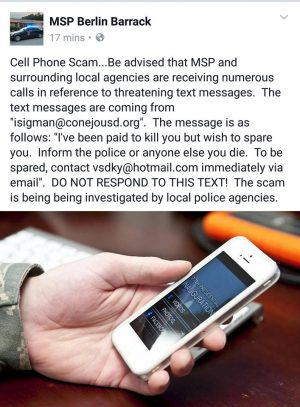 Threatening Text Message A Virus, Police Say
