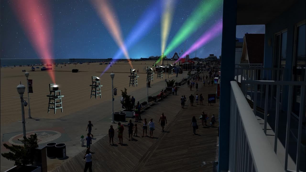 A rendering of how the new 100 Nights of Lights campaign will appear along the Boardwalk.