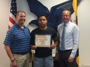 Justin Manganiello, Bank Of Ocean City's MVP Of The Week For SD Varsity Football