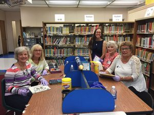 Republican Women Of Worcester County Volunteer Their Time To Help Showell Elementary Media Center Specialist