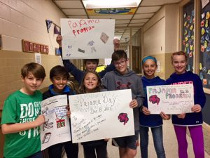 Berlin Intermediate Sixth Graders Create Posters To Promote Pajama Day