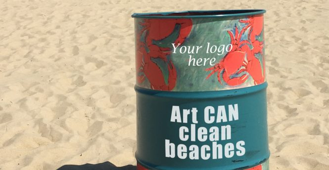 Sponsors Sought For Beach 'Art CAN' Effort