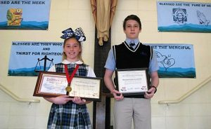 Most Blessed Sacrament Congratulates Two Students On Receiving Pop Warner Student All-American Academic Achievement Awards