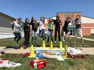 Pittsville Elementary And Middle School Students Work With Nanticoke Watershed Alliance On Mural