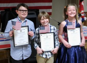 Ocean City Elementary School Had Three Winners In American Legion Americanism Essay Contest