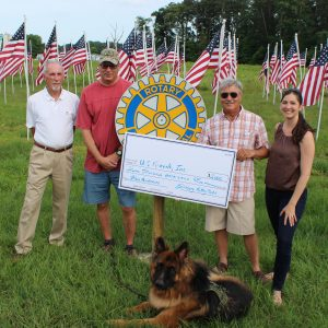 Three Rotary Clubs In Salisbury Present $3,000 Check To U.S. Kennels, Inc.