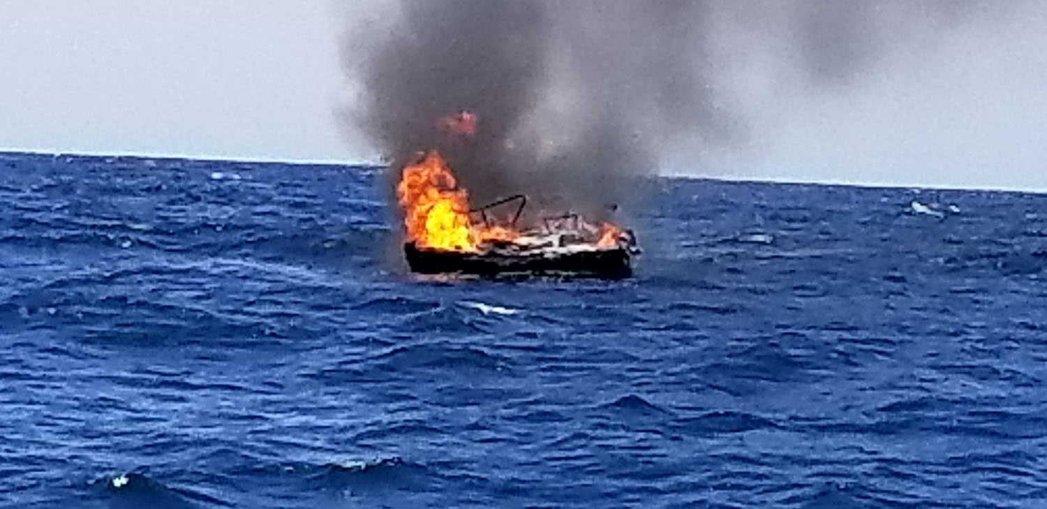 Four Rescued By Good Samaritan Vessel After Boat Explosion