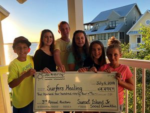 Youth Group Donates To Upcoming Surfers Healing Camp