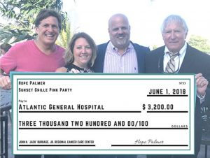 $3,200 In Proceeds From Sunset Grille's Annual Pink Party Donated To Atlantic General Campaign For The Future