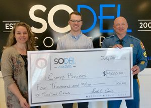 SoDel Cares Donates $4,000 To Camp Barnes