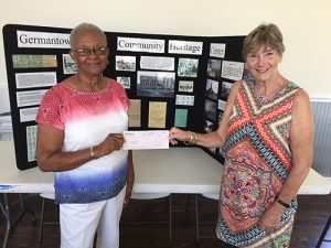 Germantown School Community Heritage Center Accepts Donation From Bank Of Delmarva Employees