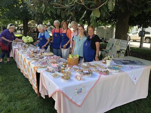 Arcadia Chapter Of The Questers Staff Bake Sale Table At Peach Festival