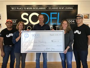 SoDel Cares Donates $4,000 To Surfers Healing