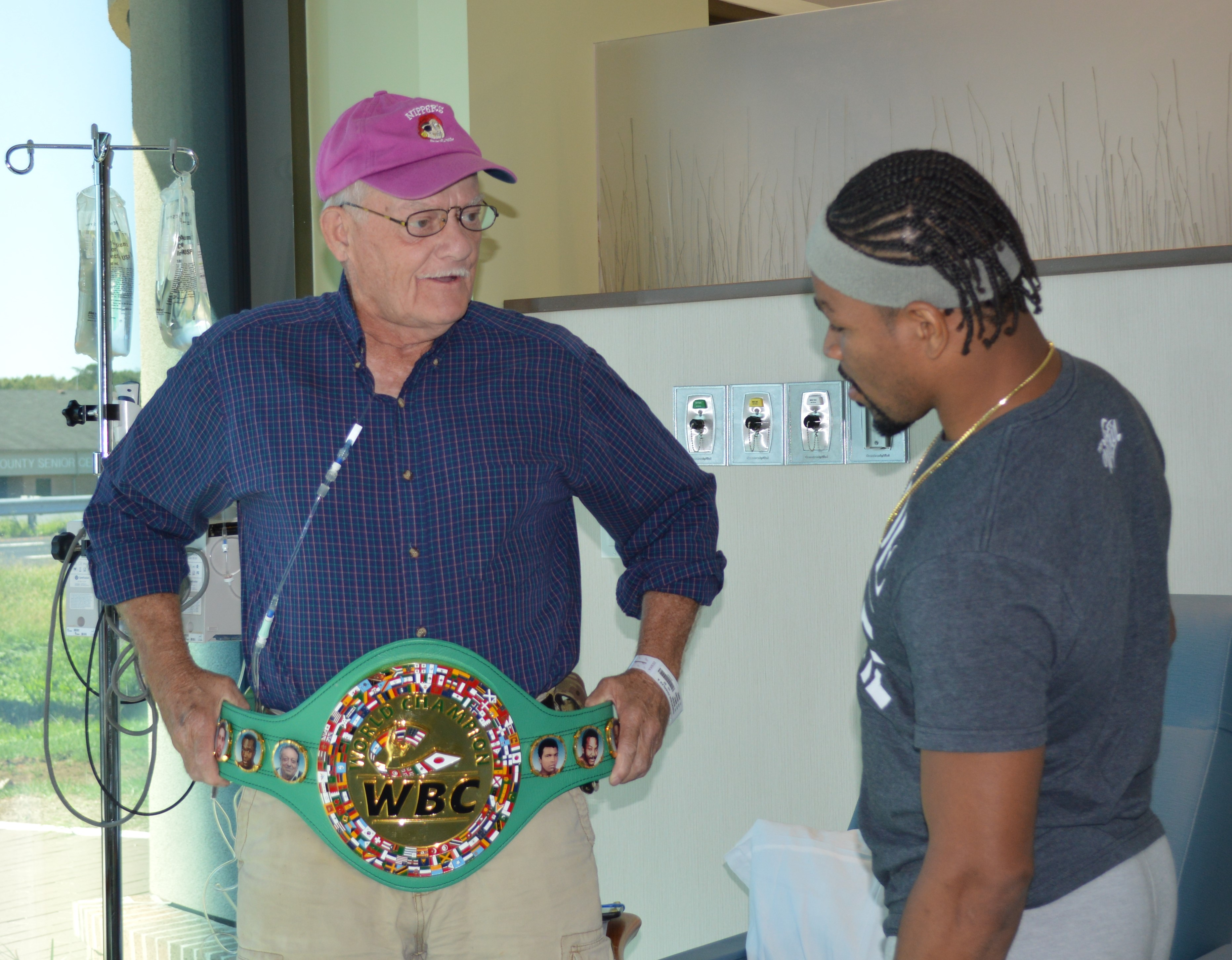 Boxing Champs Tour Cancer Care Center, Meet Patients