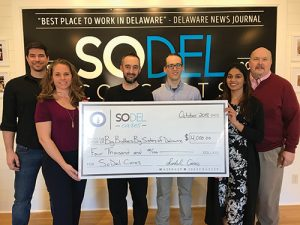 SoDel Cares Donates $4,000 To Big Brothers Big Sisters Of Delaware