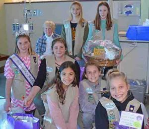 Girl Scouts Troop Presents Cancer Care Kits